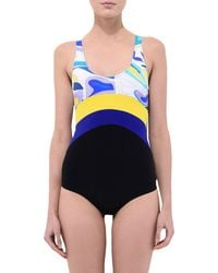 Emilio Pucci - Blue One-piece Swimsuits - Lyst