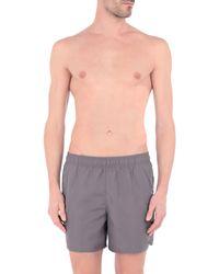 Short de bain Nike pour homme en coloris Gray