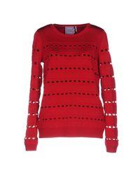 Hervé Léger Red Sweater