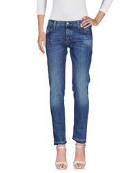 Pantalon en jean HTC en coloris Blue