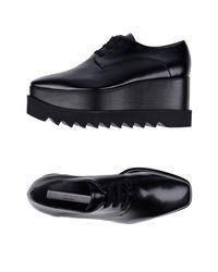 Stella McCartney Black Lace-up Shoe