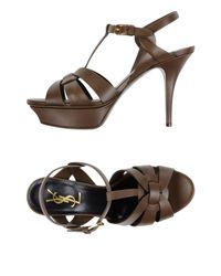 Sandales Saint Laurent en coloris Brown