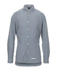 Camisa Tintoria Mattei 954 de hombre de color Blue
