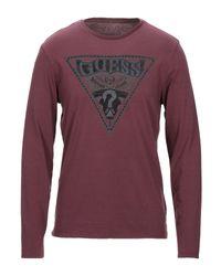 T-shirt Guess pour homme en coloris Purple
