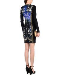 Roberto Cavalli Blue Ombré Star Print Dress Navy