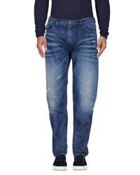 Trussardi Blue Denim Pants for men