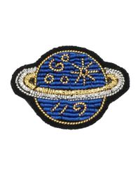 Macon & Lesquoy - Blue Brooch - Lyst