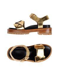Marni - Metallic Sandals - Lyst