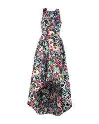Robe aux genoux Monique Lhuillier en coloris Black