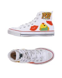 Converse White High-tops & Sneakers