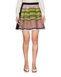 Ki6? Who Are You? Multicolor Mini Skirt