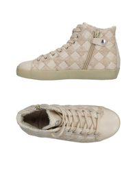 Leather Crown Natural High-tops & Sneakers