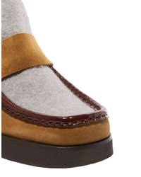 Acne Gray Ankle Boots