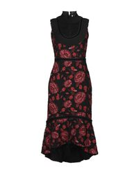 Alice + Olivia Red Knee-length Dress