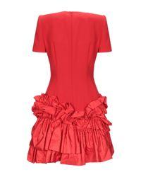 Minivestido Alexander McQueen de color Red