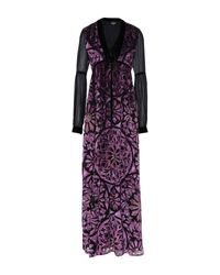 Just Cavalli Purple Langes Kleid