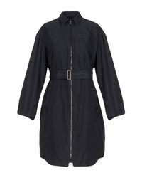 Jil Sander Navy Blue Overcoat