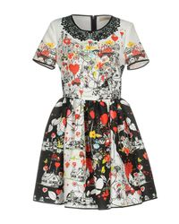 Piccione.piccione White Short Dress