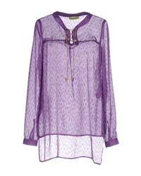 Blusa di Versace Jeans in Purple