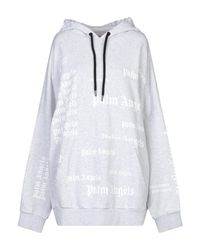 Palm Angels Kapuzenpullover mit Logos in Gray für Herren