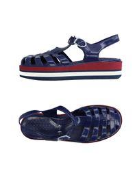 L'Autre Chose Blue Sandals