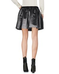 Twisty Parallel Universe Gray Mini Skirt