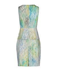Elie Tahari Green Short Dress
