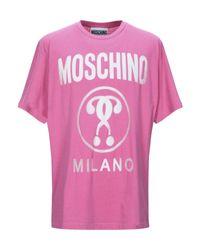 Moschino T-shirts in Pink für Herren