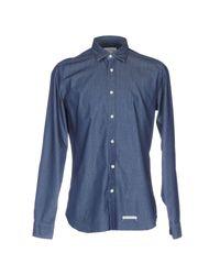 Chemise Tintoria Mattei 954 pour homme en coloris Blue
