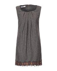 X's Milano Gray Kurzes Kleid