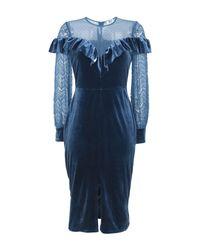 True Decadence Blue Knielanges Kleid