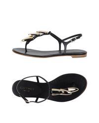 Grey Mer - Black Toe Post Sandal - Lyst