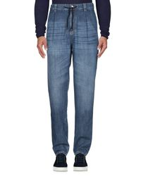 Brunello Cucinelli Blue Denim Pants for men