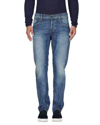 Les Hommes - Blue Denim Trousers for Men - Lyst