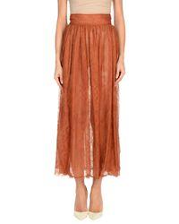 Falda larga Valentino de color Brown
