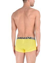 Emporio Armani - Yellow Boxer for Men - Lyst