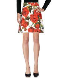 Dolce & Gabbana Red Knee Length Skirt