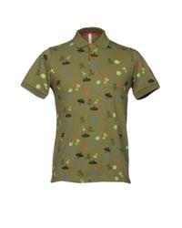 Sun 68 - Green Polo Shirt for Men - Lyst