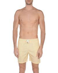 Hartford Yellow Swim Trunks for men