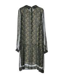 Dv Roma Green Short Dress