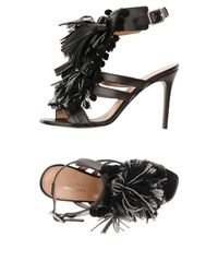 Twin Set Black Sandals