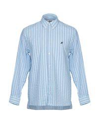 Camicia di MSGM in Blue da Uomo