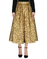 Prada Metallic 3/4 Length Skirt