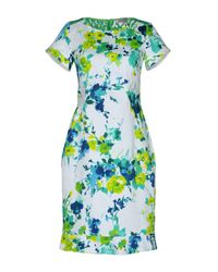 Angelo Marani Green Short Dress