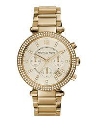 Michael Kors Metallic Parker Gold-Toned Watch MK5354