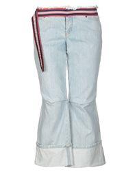 Capri jeans di Alexander McQueen in Blue