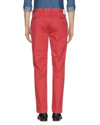 PT Torino Red Casual Pants for men