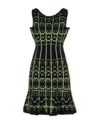 Hervé Léger Blue Short Dress
