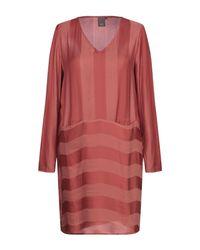 Ichi Red Short Dress