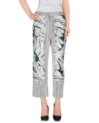 Cedric Charlier White Casual Pants